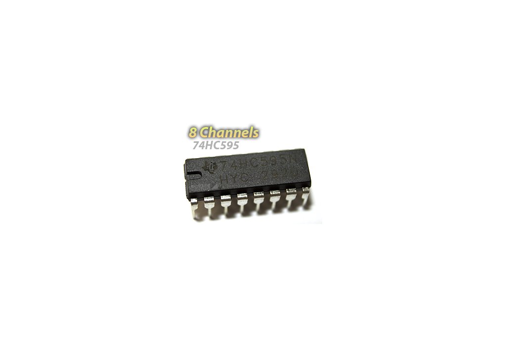 [5 pack] 74HC595 Shift Register (For LED Arrays and GPIO Expansion) 1