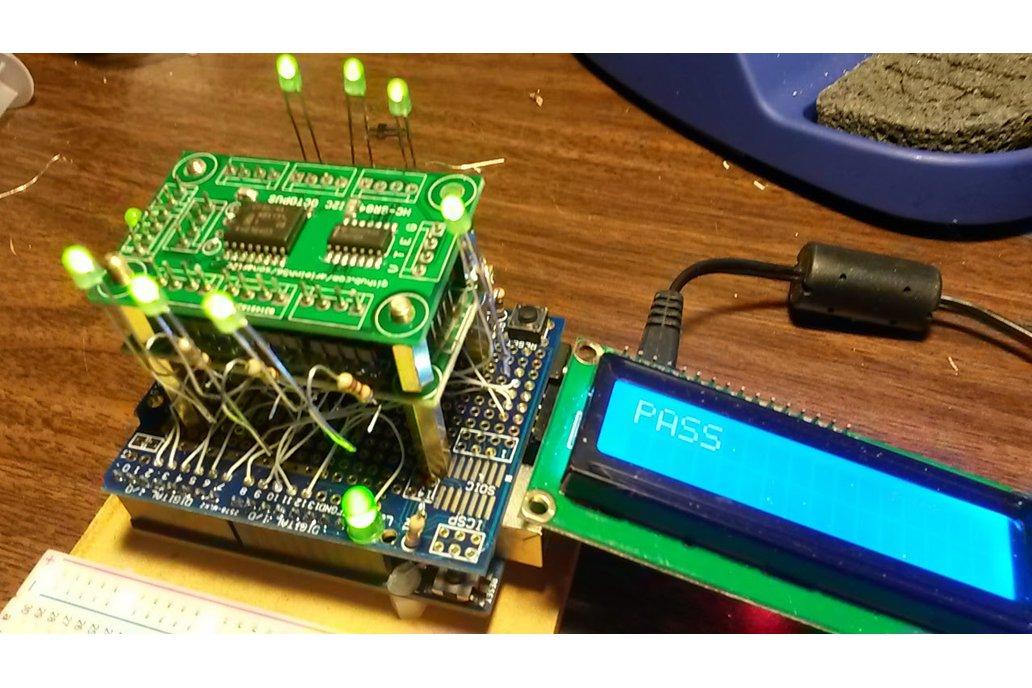 Octosonar v1 - connect 8 x HC-SR04 to Arduino 2