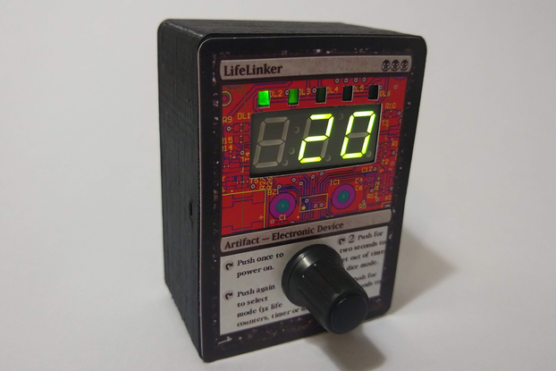 Electronic dice, timer and life counter.
