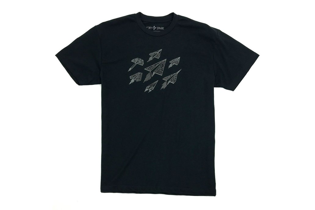 ASCEND - Digital Paper Airplanes Graphic T-shirt 1