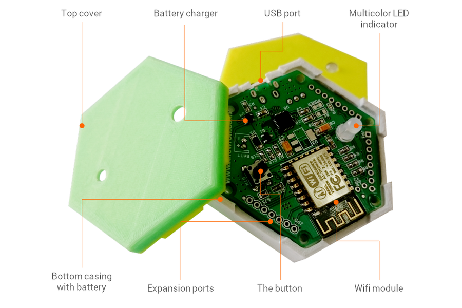 1btn: Open Source WiFi connected IoT Button