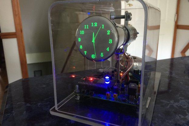"""Oscilloscope Clock 2AP1 2"""" round Cathode Ray Tube"""