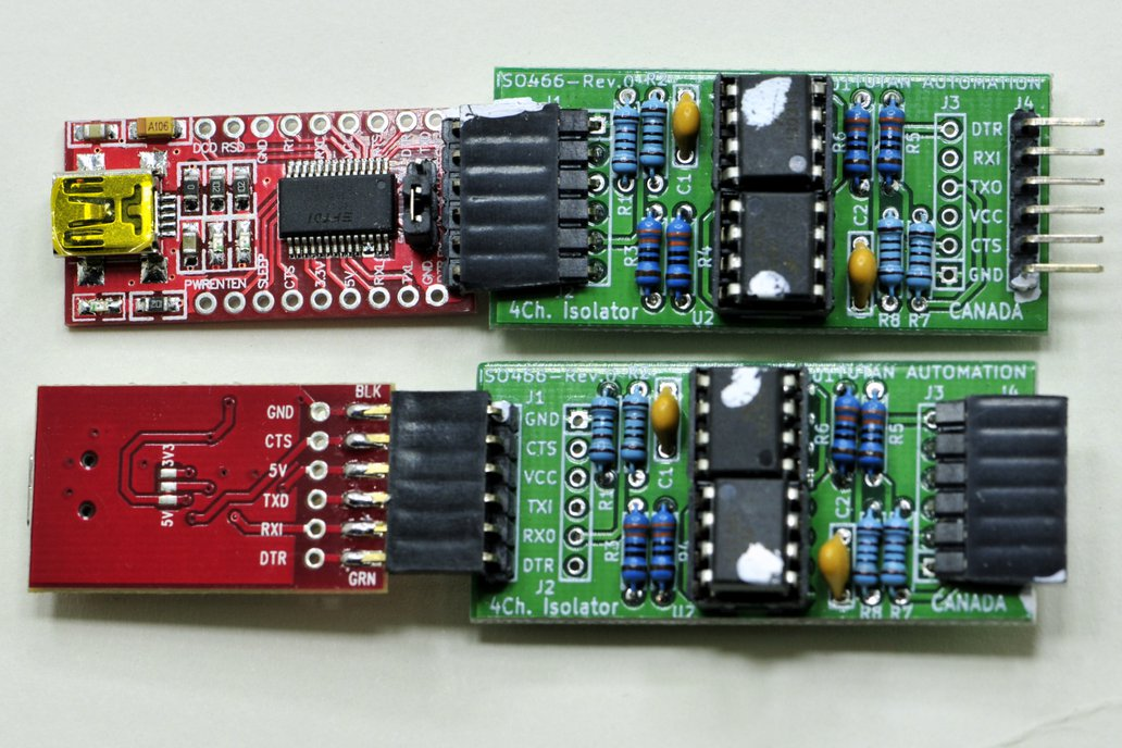 1 Mbaud Serial Isolator for FTDI adapter 5