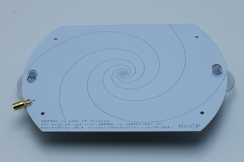 800MHz+ Log Spiral Antenna with Suction Mounts 1