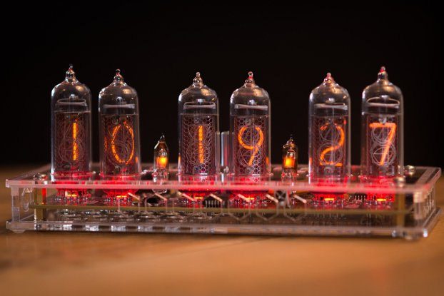 IN-14 Nixie Tube Clock Transparent Enclosure