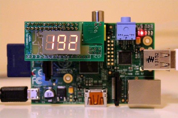 Pi IP Address add-on board for Raspberry Pi