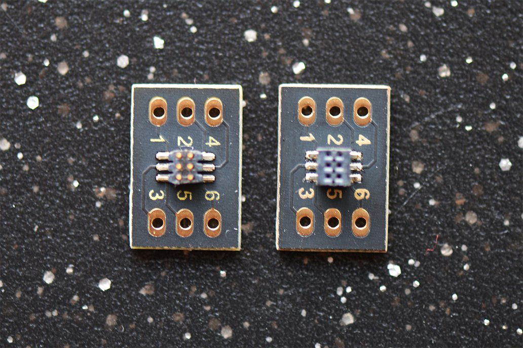 """1mm Micro Socket/Terminal to 0.1"""" (6 Contacts) 1"""