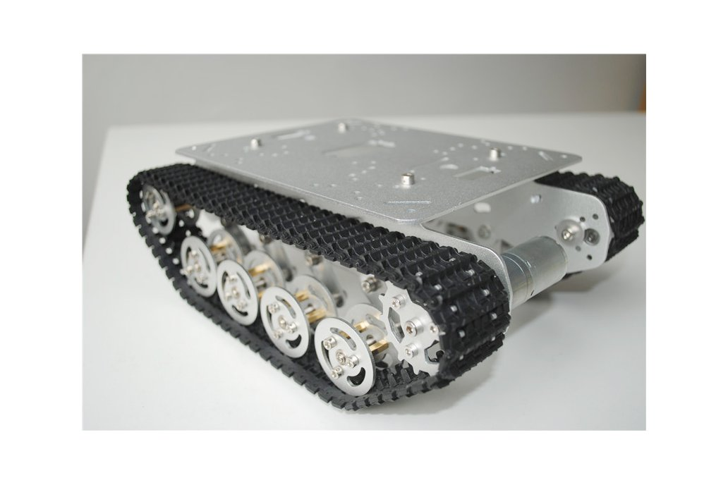 Metal Shock Absorption Robot Tracked Tank Car 5