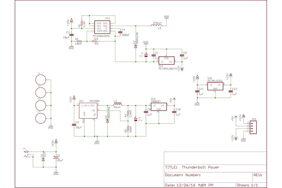 Thunderbolt Power board