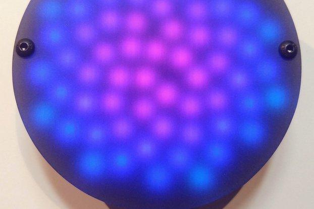 Fibonacci64 - 86mm disc with 64 WS2812B RGB LEDs