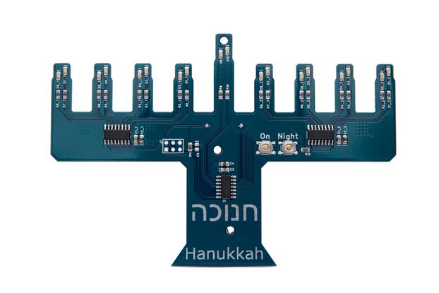 Electronic Hanukiah Model I