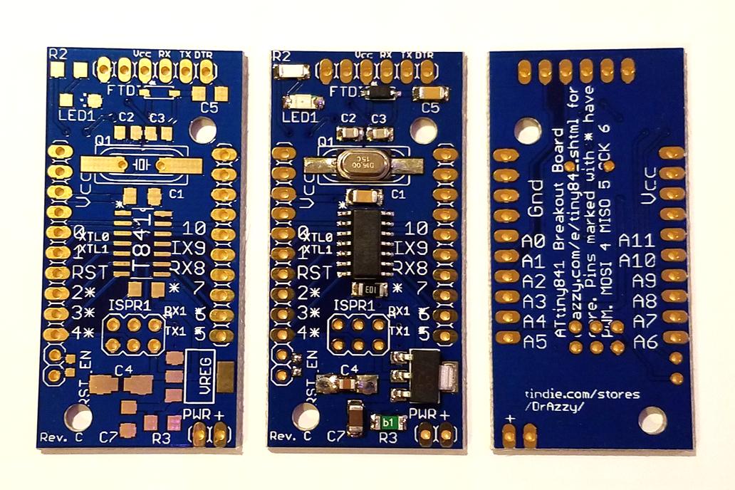 ATTiny841/84 breakout w/serial header (bare board) 4