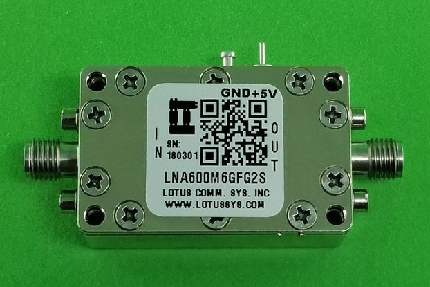 Amplifier LNA 0.9dB NF 600M~6000 MHz 39dB Gain