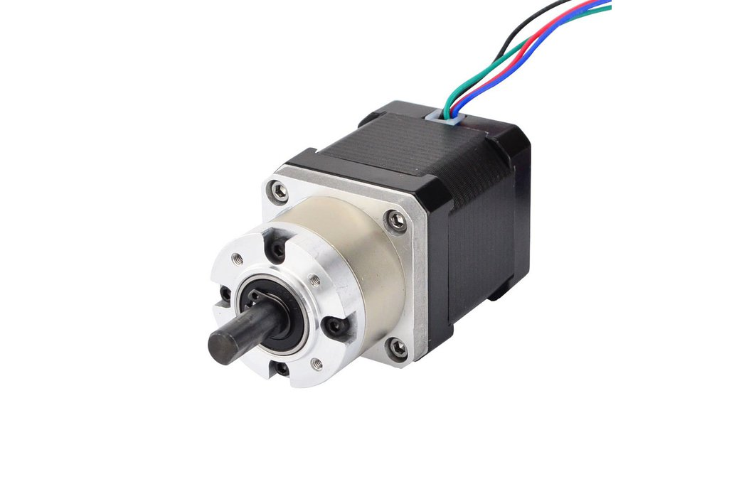 Nema 17 Stepper Motor 48mm Length w/ 5:1 Gearbox 1