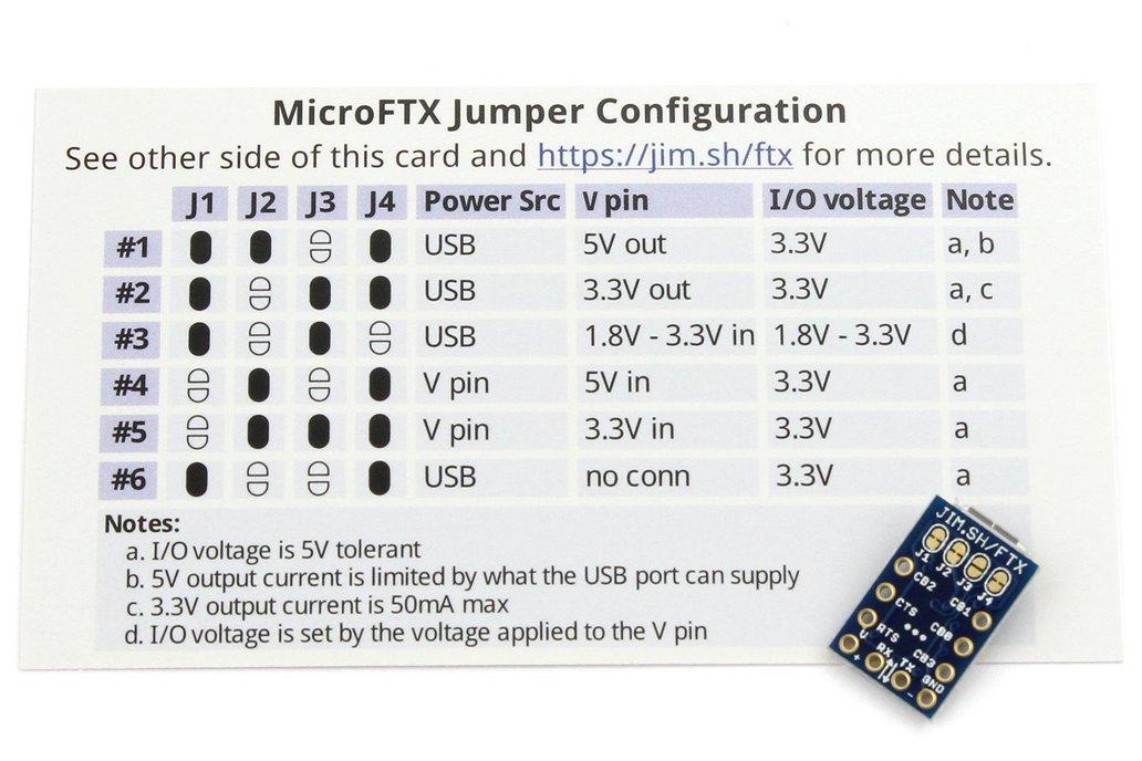 MicroFTX USB-Serial Breakout 5