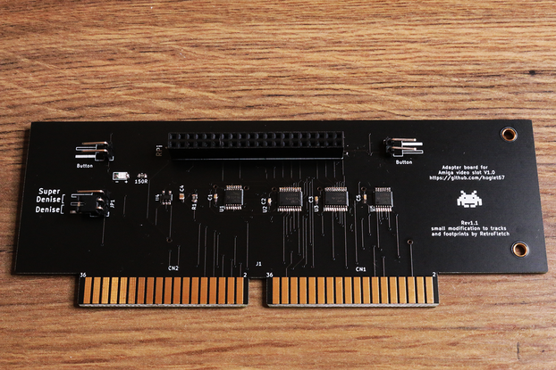 GOLD HDMI AMIGA 2000 / 3000 for Raspberry Pi Zero