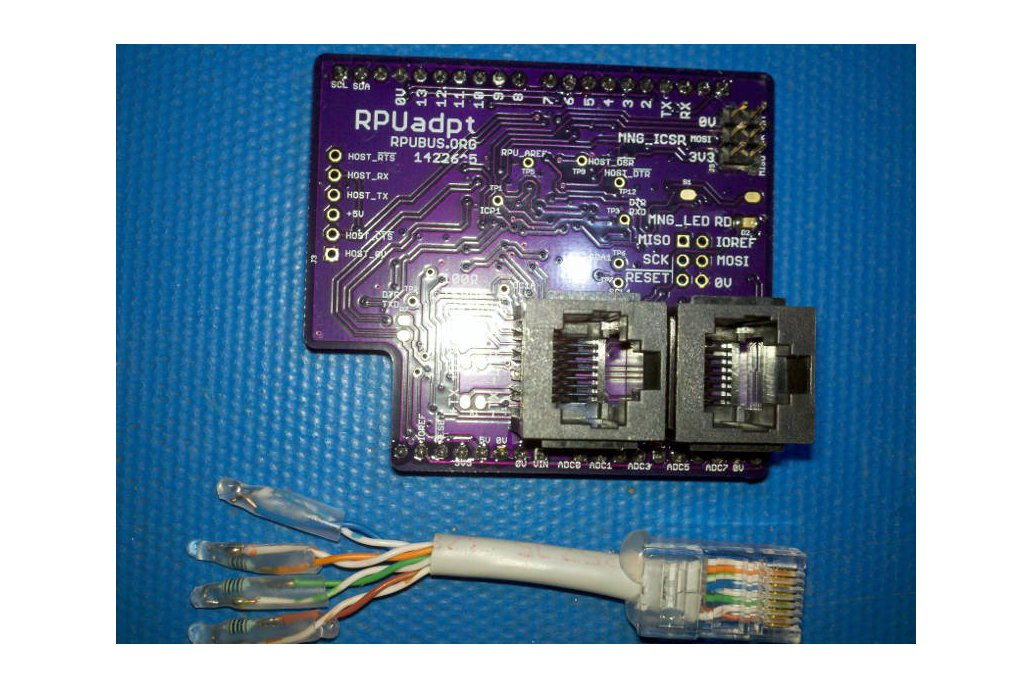 RPUadpt - a shield for RS-422 over CAT5 1