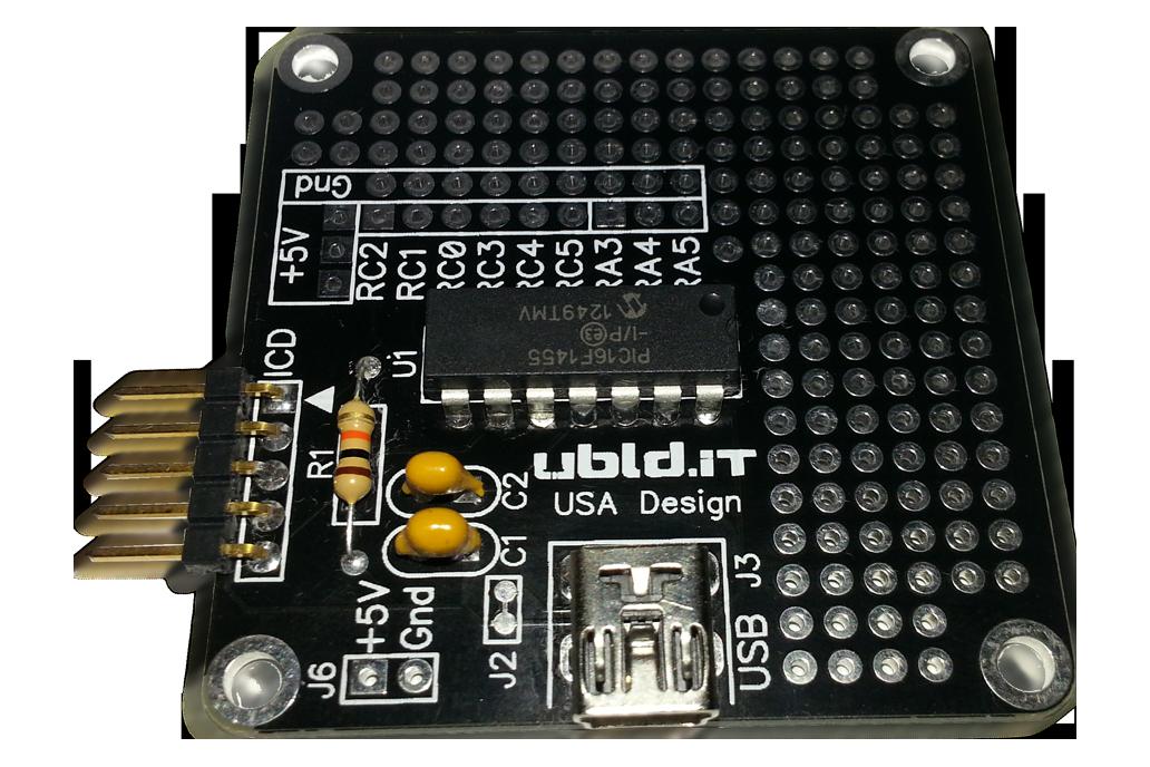 USB PIC16F1455 Breakout Board 1