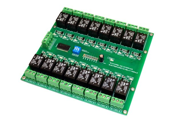 16 Channel I2C Electromagnetic Relay Module