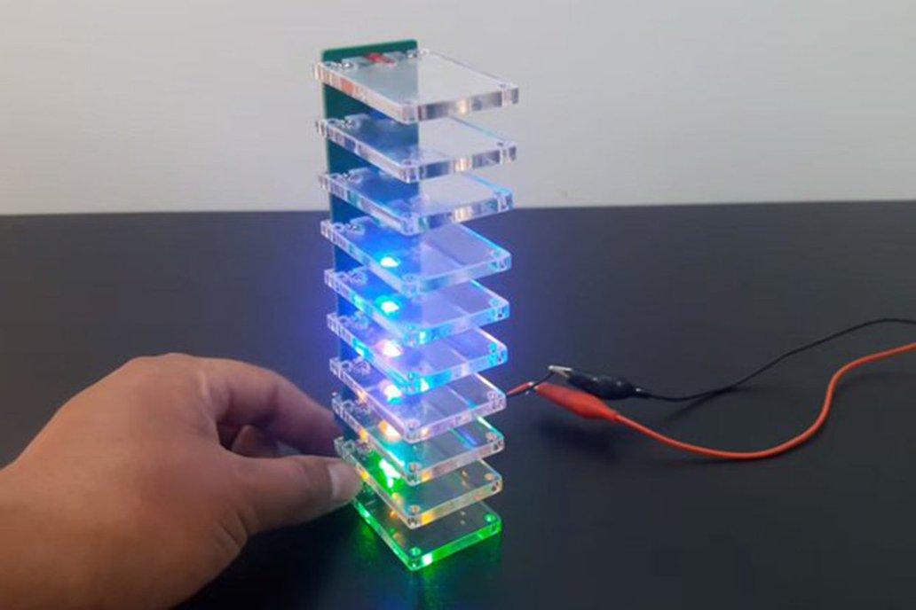 Colorful Column LED Music Spectrum DIY Kit (12515) 1