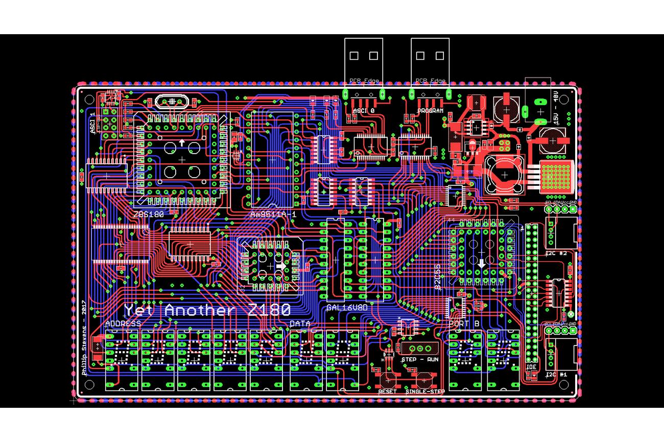 YAZ180 PCB - Modern Single Board Z80 Computer