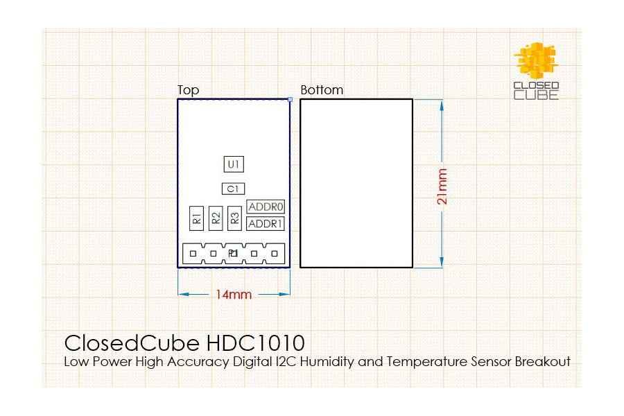 HDC1010 High Accuracy Humidity/Temperature Sensor