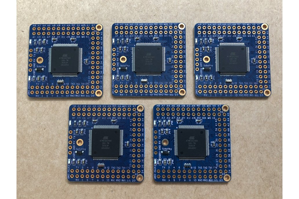 5-Pack Naked Mega 2 Arduino compatible board 1