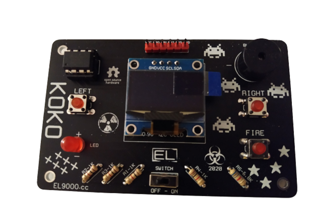 KOKO, a retro game console kit DIY and hackable 1