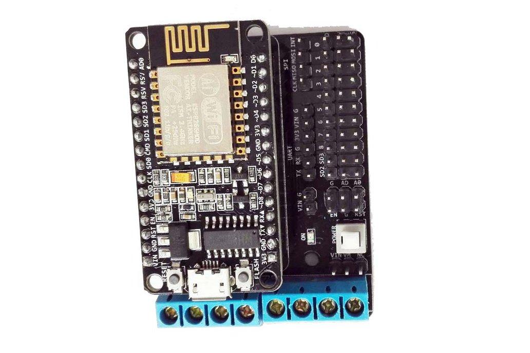 ESP8266 Develop Kit (NodeMCU board+ Motor Shield) 3