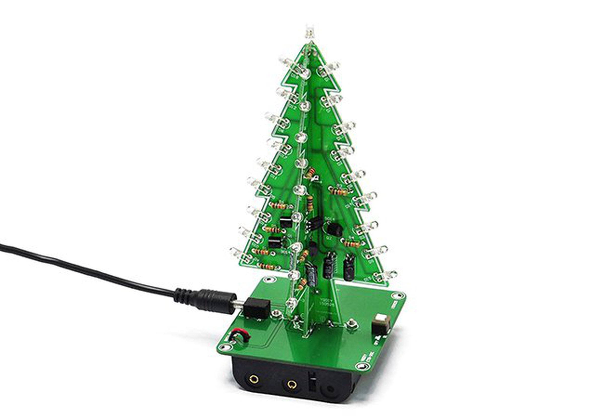 DIY 3D Xmas Tree 7 Color Flash LED Kits(7213) from ICStation on Tindie