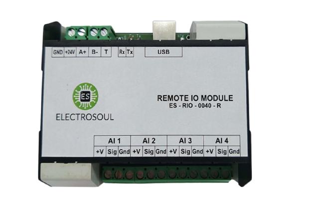 4 Channel AI Remote IO Module (RS485 / USB)