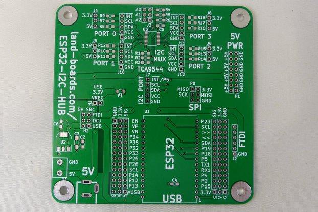 ESP32 Breakout/I2C Hub - PCB only (ESP32-I2C-HUB)