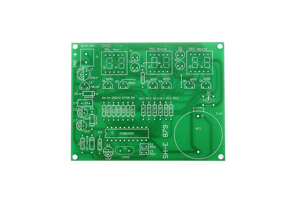 DIY 6 Digital LED Electronic Clock Kit  2