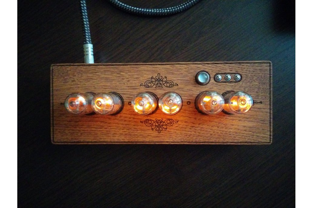 Vintage Nixie Clock On IN-8-2 Tubes In Wooden Case 4