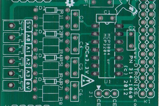 Raspberry PIIO - AIN4 4ch Analogue Input (PCB)
