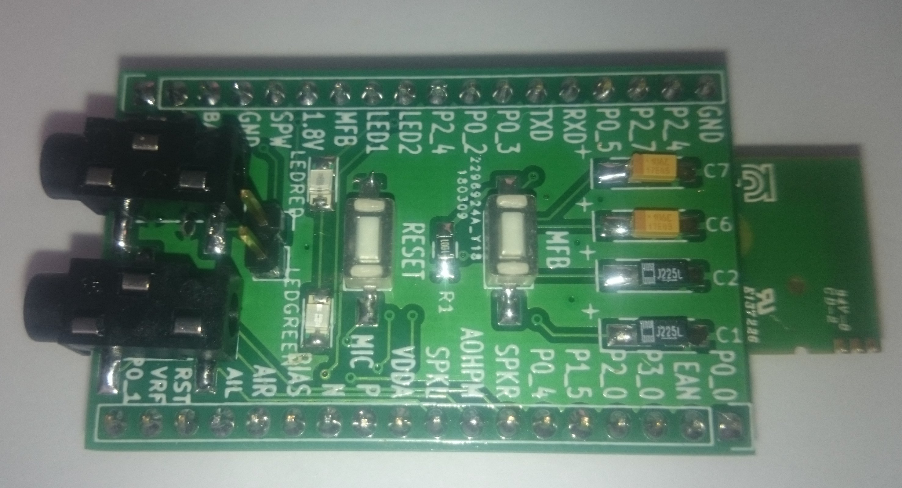 assambled board in breadboard