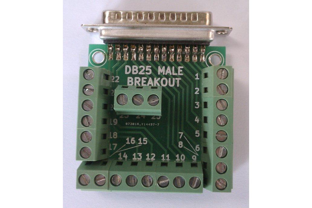 DB25 Male D-Sub 25pin Parallel Breakout Board Kit 3