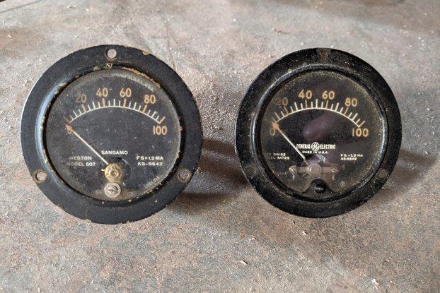 Vintage GE/Sangamo amp-meters