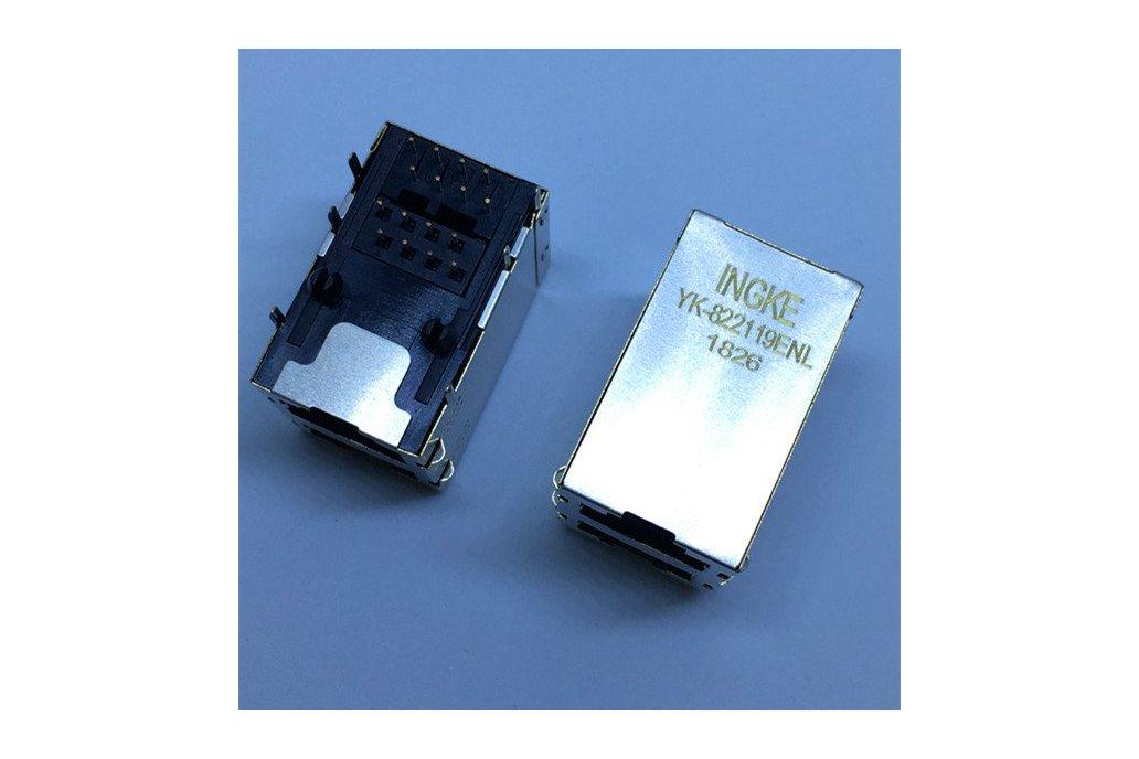 5569381-1 Through Hole RJ45 Modular Jacks 8p8c 1