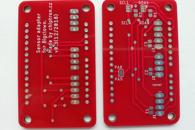 Sensor adapter v0.3 for BigClown (Bare PCB)