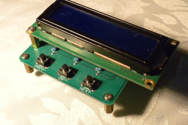 16x2 Character Console for Raspberry Pi (M177v1)