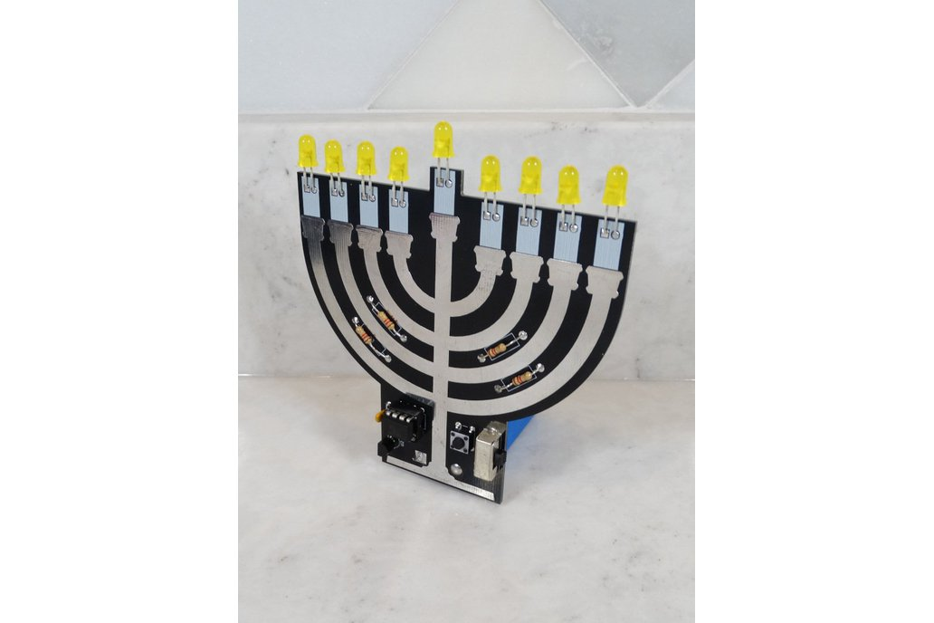 Hanukkah Menorah - Soldering Practice Kit 1
