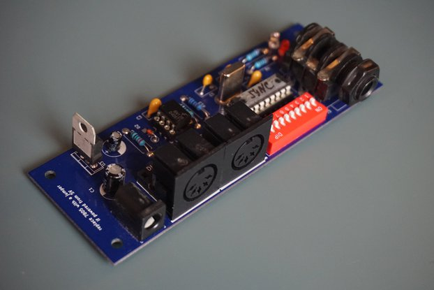MIDI Sync box Din Sync Any sync PCB or Kit