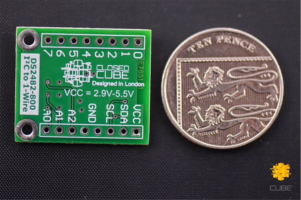 DS2482-800+ I2C to 8-Channel 1-Wire Breakout Board 4