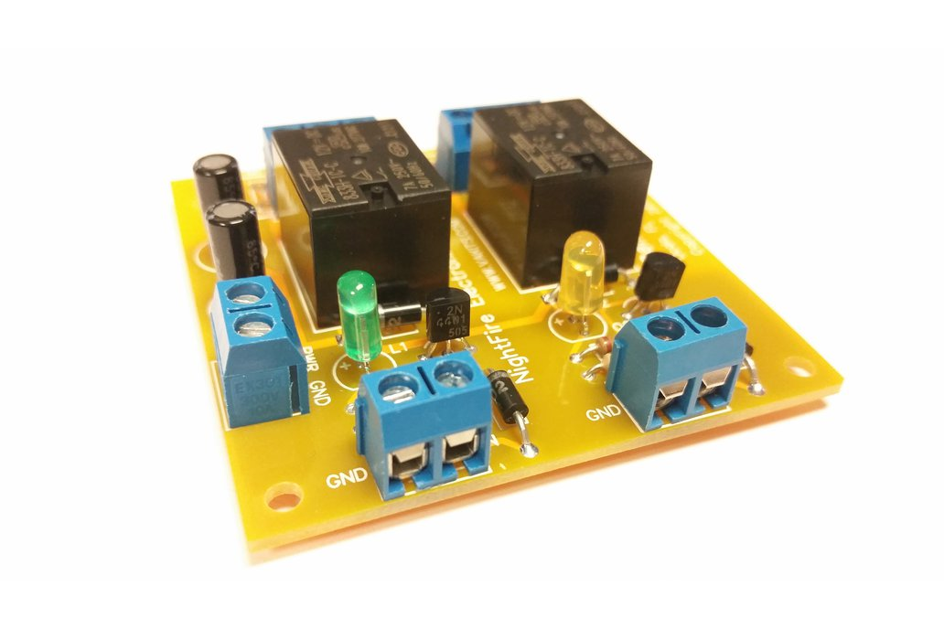 Dual Relay Module Kit - Selectable Coil Voltage 5