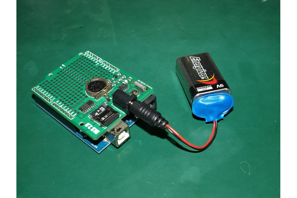 Extreme low power data logging shield for Arduino 1