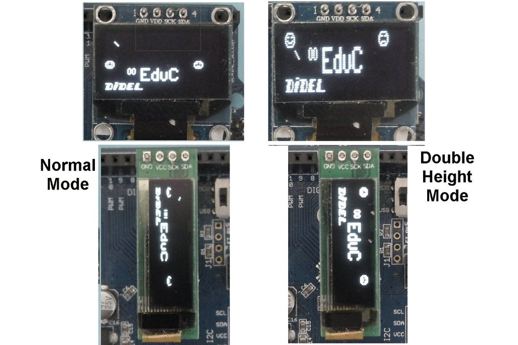 Get two Oleds – connect both on any Arduino pins 2
