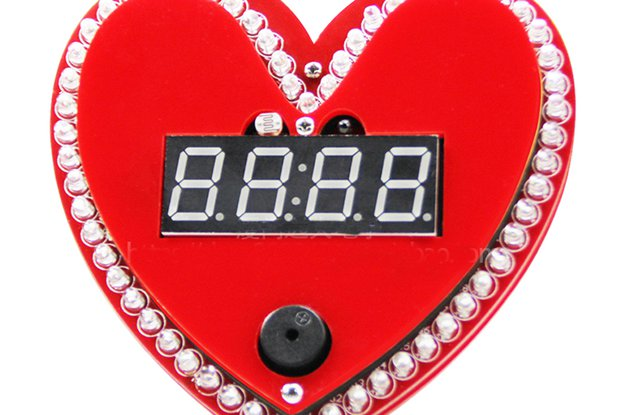 Heart shaped clock diy kit