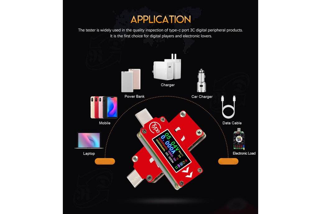 USB energy monitor OLED disp current voltage power 3