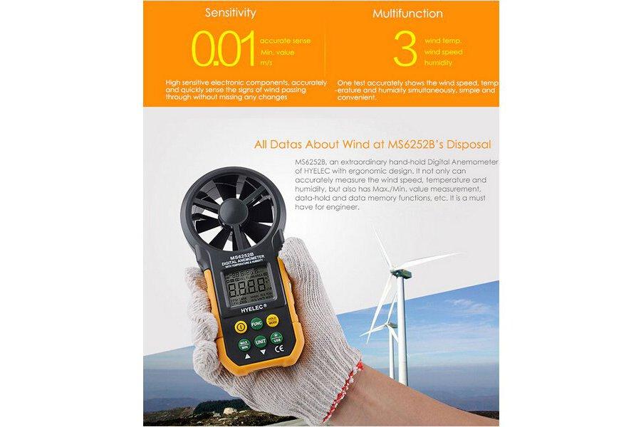 Multi. Digital Anemometer/Tachometer